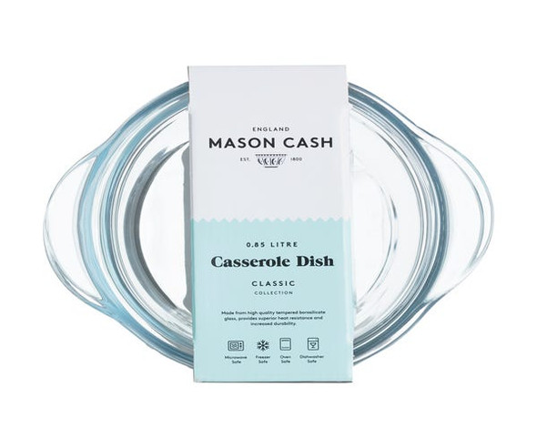 Mason Cash® Classic Collection 28.4 oz. Glass Casserole and Lid