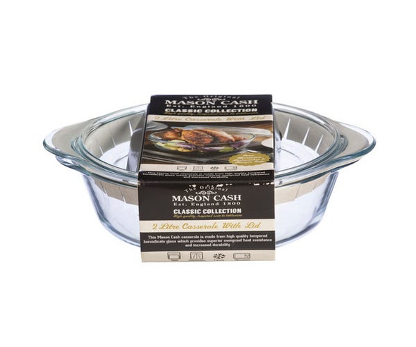 Mason Cash® Classic Collection 67.6 oz. Glass Casserole and Lid