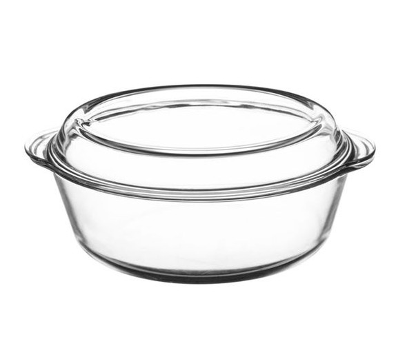 Mason Cash® Classic Collection 3.2 qt. Clear Casserole Dish with Lid