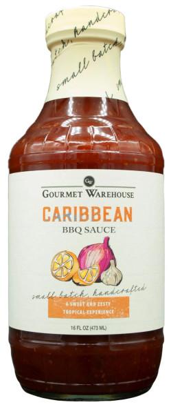 Gourmet Warehouse 16 oz. Bottle Caribbean BBQ Sauce