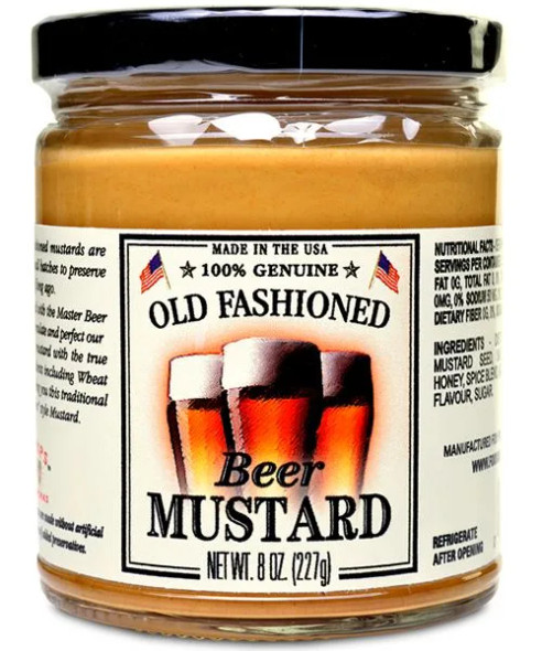 Shemps Old Fashioned 8 oz. Beer Mustard