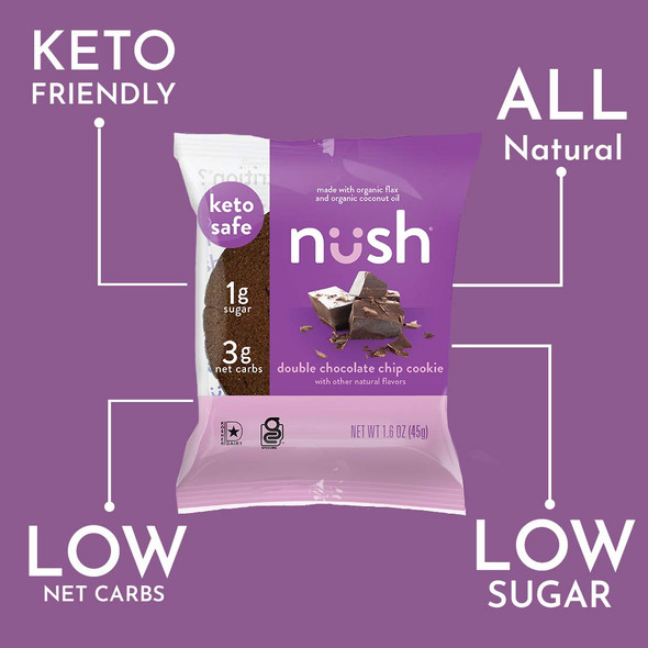 Nush 1.6 oz. Double Chocolate Chip Cookies (10 Pack)