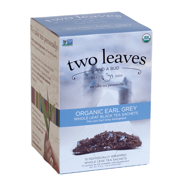 Two Leaves And A Bud Organic Earl Grey Tea (15 Count Box)