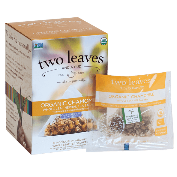 Two Leaves And A Bud Organic Chamomile Tea (15 Count Box)
