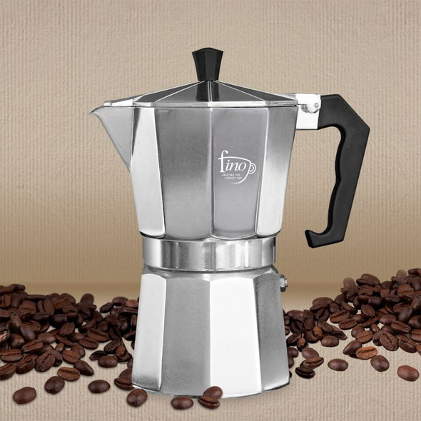 Fino 6-Cup Stovetop Stainless Steel Espresso Maker