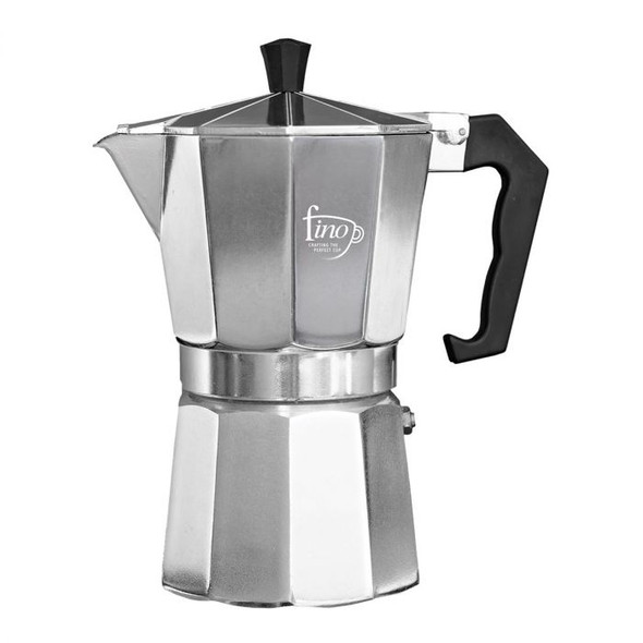 Fino 9-Cup Stovetop Stainless Steel Espresso Maker