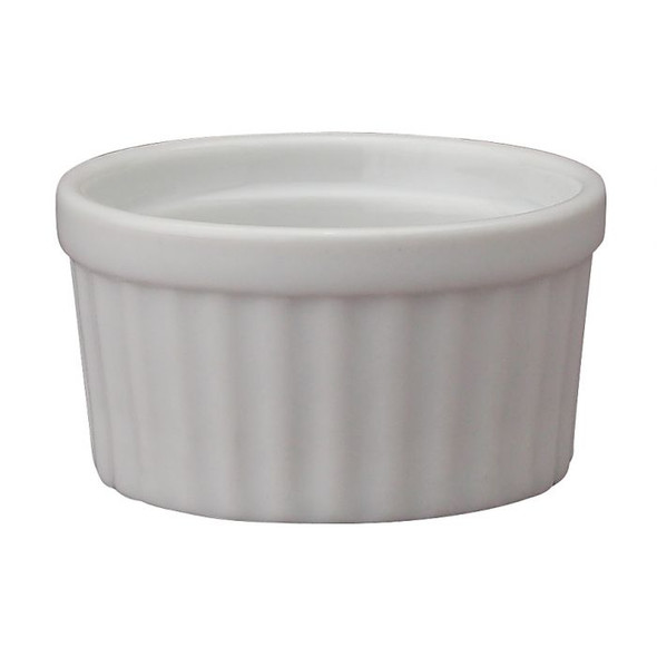 HIC Kitchen 1 oz. Porcelain Butter Crock in White