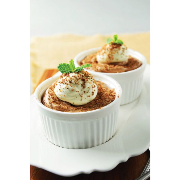 HIC Kitchen 10 oz. Porcelain Deep Souffle in White
