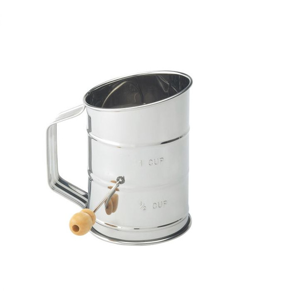 Mrs. Anderson's Baking® 1-Cup Stainless Steel Crank Flour Sifter