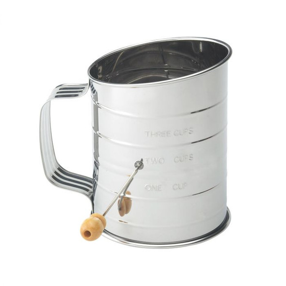 Mrs. Anderson's Baking® 3-Cup Stainless Steel Crank Flour Sifter
