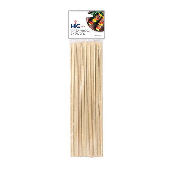 "HIC Kitchen 10"" Bamboo Skewer (Pack of 100)"