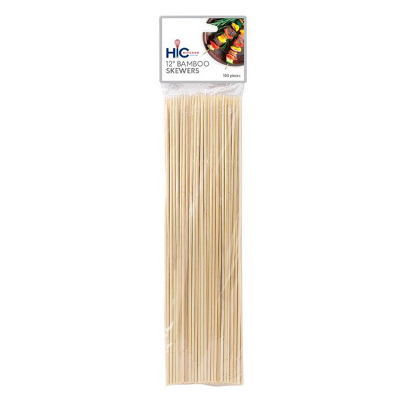 "HIC Kitchen 12"" Bamboo Skewer (Pack of 100)"