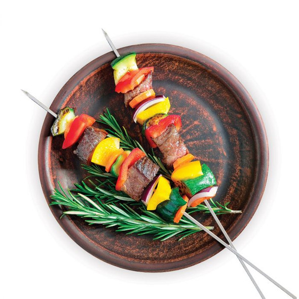 """HIC Kitchen 12"""" Stainless Steel Barbecue Skewers (Set of 4)"""