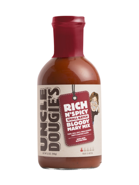 Uncle Dougies 32 oz. Rich 'N' Spicy Small Batch Bloody Mary Mix