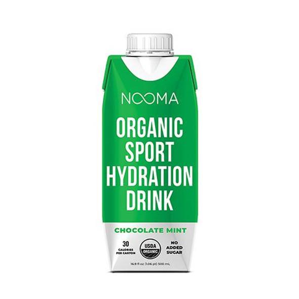 NOOMA Chocolate Mint 16.9 oz. Organic Electrolyte Sports Drinks (12 Pack)