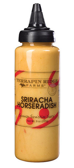 Terrapin Ridge Farms 9 oz. Sriracha Horseradish Squeeze Garnishing Sauce