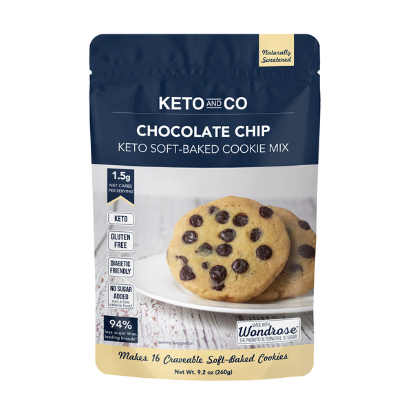 Keto and Co. 9.73 oz. Keto Soft-Baked Chocolate Chip Cookie Mix