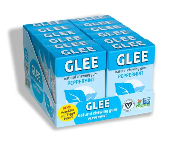 GLEE 16-Piece Peppermint Natural Chewing Gum