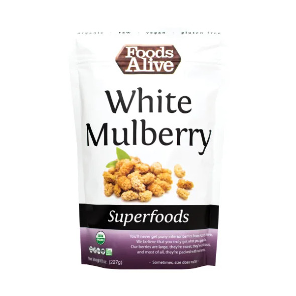 Foods Alive 8 oz. Organic Raw White Mulberries