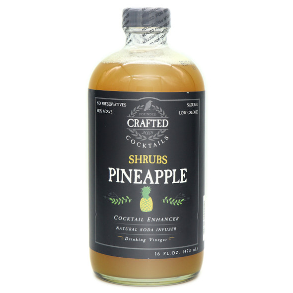 Crafted Brand Company 16 oz. Pineapple Shrubs Cocktail Enhancers