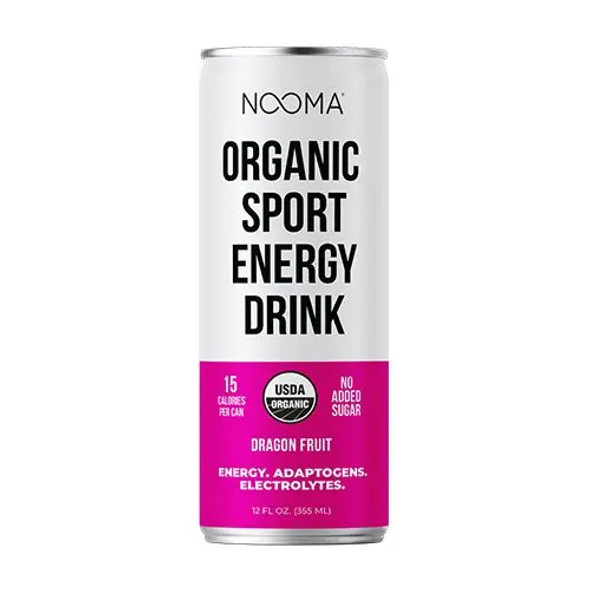 NOOMA Dragon Fruit 12 oz. Organic Sport Energy Drinks (12 Pack)
