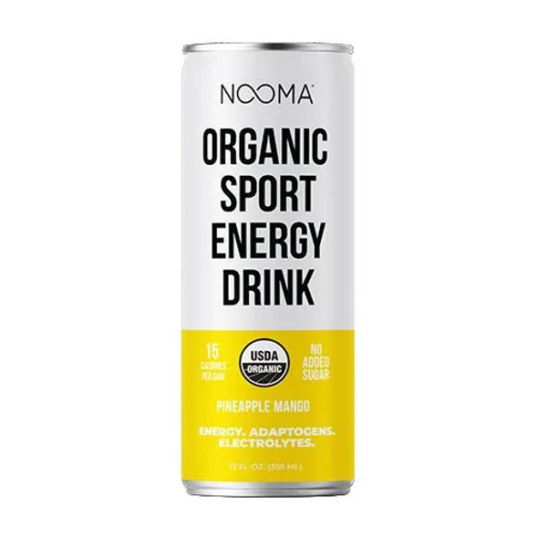 NOOMA Pineapple Mango 12 oz. Organic Sport Energy Drinks (12 Pack)