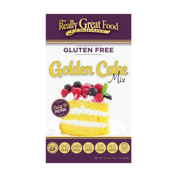 The Really Great Food Company 23 oz. Gluten Free Golden Cake Mix