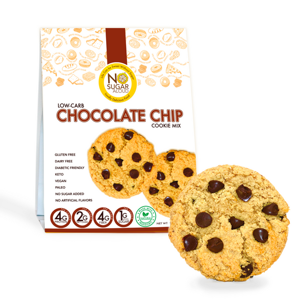 No Sugar Aloud 12.4 oz. Low Carb Chocolate Chip Cookie Mix
