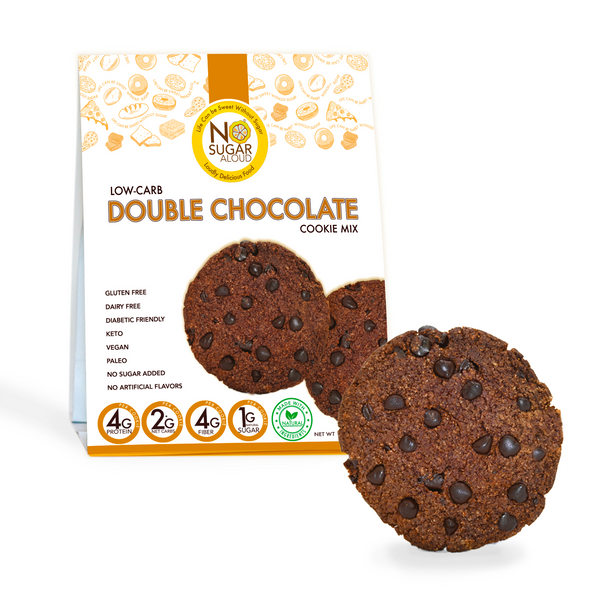 No Sugar Aloud 12.3 oz. Low Carb Double Chocolate Cookie Mix