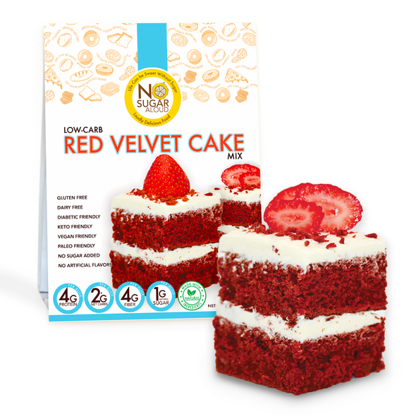 No Sugar Aloud 13 oz. Low Carb Red Velvet Cake Mix