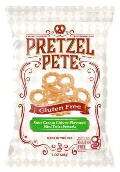 Pretzel Pete 1 oz. Gluten Free Sour Cream Chive (20 Pack)