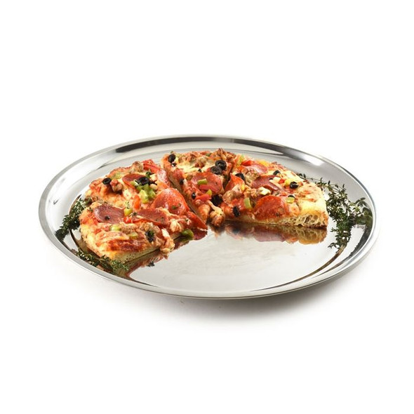 Norpro® 15.5-Inch Stainless Steel Traditional Pizza Pan