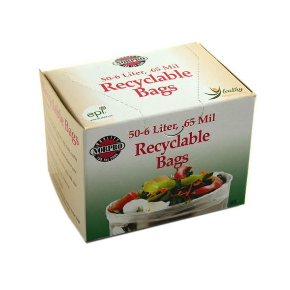 Norpro® 6-Liter Recyclable Bags (50 Count)
