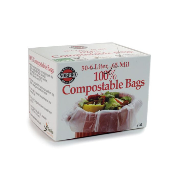 Norpro® 6-Liter 100% Compostable Bags (50 Count)