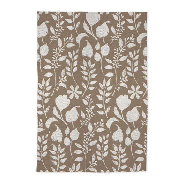 MÜ Kitchen Jacquard Our Home Kitchen Towels in Sand (Set of 2)