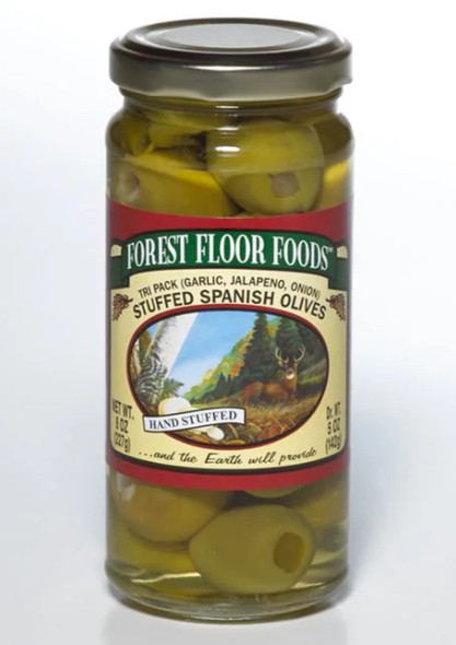 Forest Floor Foods 8 oz. Tri-Pack Stuffed Queen Olives