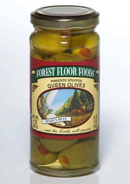 Forest Floor Foods 8 oz. Pimiento Stuffed Queen Olives