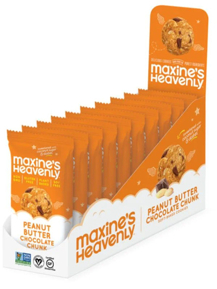Maxine's Heavenly 1.8 oz. Peanut Butter Chocolate Chunk Cookies Snack Pack (10 Pack)
