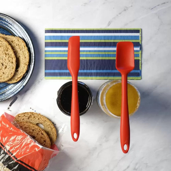 RSVP Ela's Favorite Silicone Spatula in Red (Set of 2)