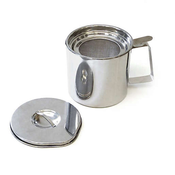 RSVP Stainless Steel 4-Cup Fryer's Friend Grease Keeper