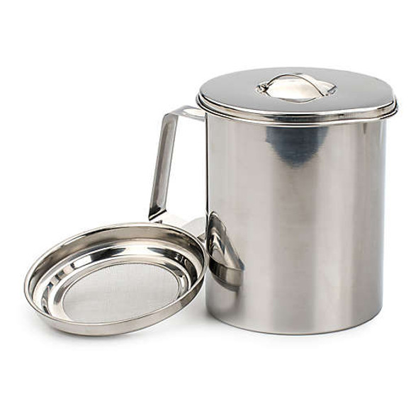 RSVP Stainless Steel 6-Cup Fryer's Friend Grease Keeper