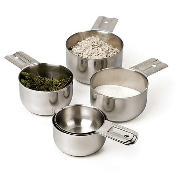 RSVP Stainless Steel 6-Piece Measuring Cup Set