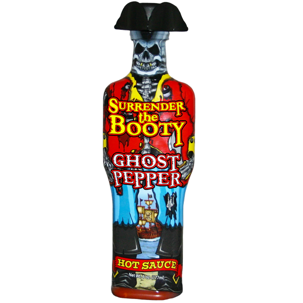 Surrender the Booty 6 oz. Ghost Pepper Hot Sauce