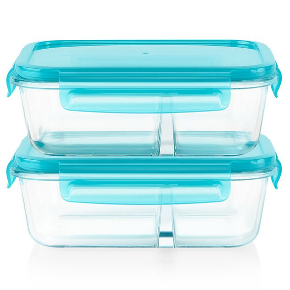 Pyrex® MealBox™ 4-Piece 3.4-Cup Divided Glass Food Storage Set