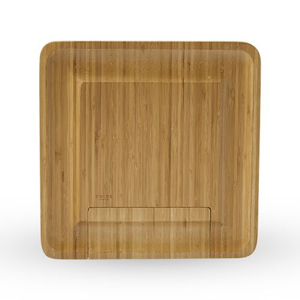 Four Piece Bamboo Cheese Board and Knife Set by Twine®