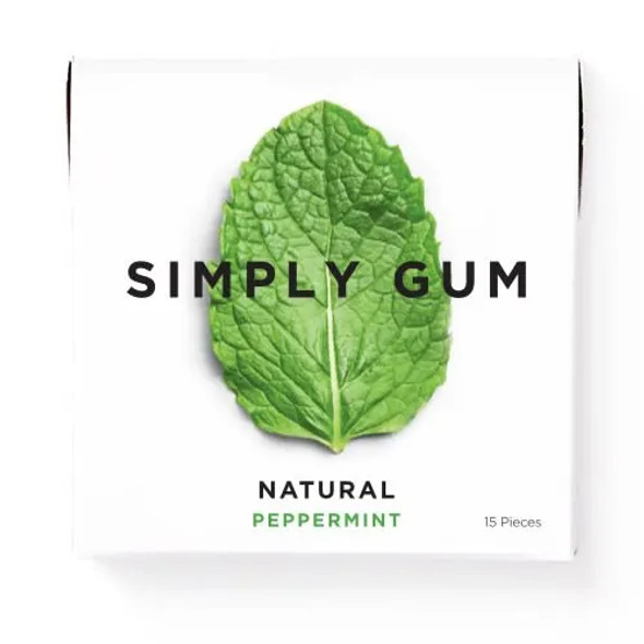 Simply Gum 15-Piece Peppermint Natural Chewing Gum