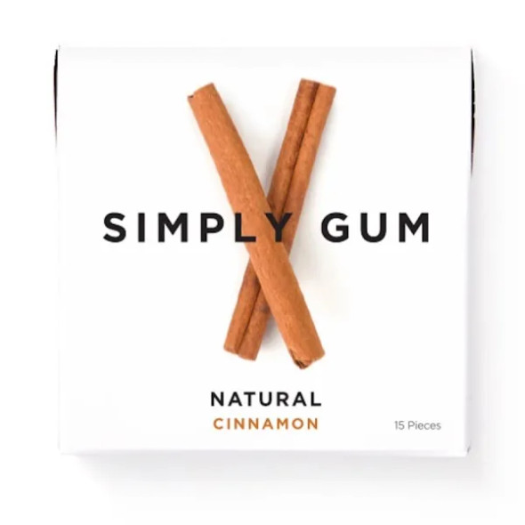 Simply Gum 15-Piece Cinnamon Natural Chewing Gum