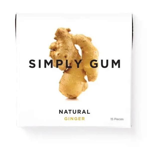 Simply Gum 15-Piece Ginger Natural Chewing Gum