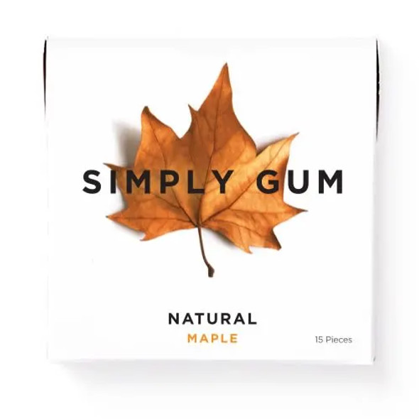 Simply Gum 15-Piece Maple Natural Chewing Gum