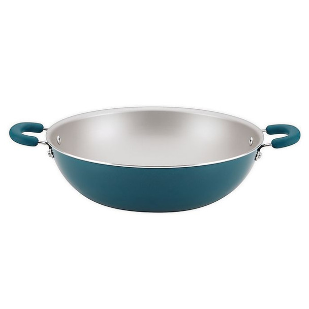 Rachael Ray™ Create Delicious Nonstick 14.25-Inch Aluminum Wok in Teal